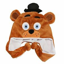 Five Nights at Freddy's Brown Fazbear Plush Laplander Beanie Hat-New w/o tags!
