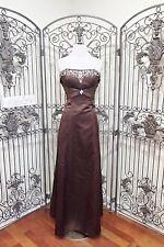L38 ALEXIA 2812 SZ 10 COCOA BRIDESMAID PARTY  GOWN DRESS