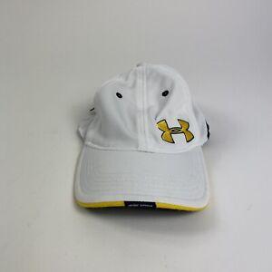 Under Armour HeatGear Womens White/Yellow Logo Baseball Cap Adjustable Belt Back