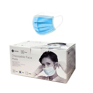 Mundschutz Maske Filtermaske 3 Lagig Atemschutz Schutzmaske Gesichtsmaske 50x