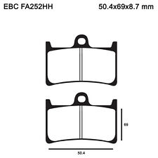 EBC FA252HH Replacement Brake Pads for Front Yamaha YZF 1000 R Thunderace 96-02