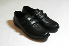 Smart Flat Black Leather Shoes Straps Professional Hospital UK Euro size 38 #109