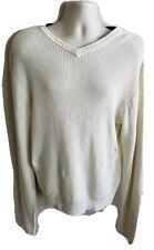 Steve & Barrys Mens Beige V Neck Sweater Size 3XL XXXL