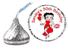 216 BETTY BOOP BIRTHDAY PARTY FAVORS HERSHEY KISS KISSES LABELS