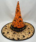 BUD LIGHT Budweiser Vintage Halloween Witches Hat Orange Black Satin Velvet Beer
