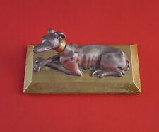 Liegender Hund - Briefbeschwerer - Bronze um 1900   (# 3905)