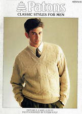 PATONS 1073 ~ CLASSIC STYLES FOR MEN, in 5, 8 & 12 PLYS - 4 x JUMPERS (SWEATERS)
