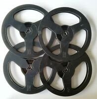 "5 3/4""Black Empty Reel Spool for Recording Tape. For music lovers. 4pcs"