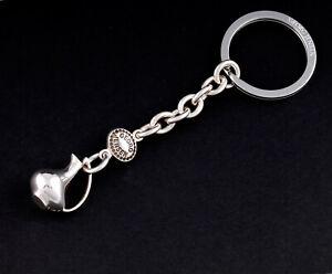 GEORG JENSEN Sterling Key Ring. Duck Pitcher. Silver. DENMARK. Henning Koppel.