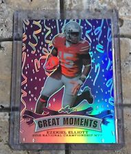 2016 Leaf Great Moments #GM05 Ezekiel Elliott Purple #ed 15/15 Jersey Number