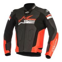 Alpinestars Fuji Black Red Leather Motorcycle Jacket NEW RRP £449.99
