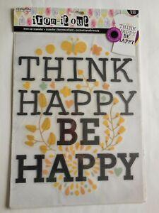 "Horizon 1 pc ""Think Happy be Happy"" Iron-On Transfer 8.5"" x 11"""