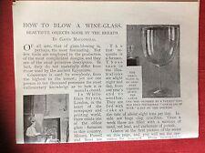 m2n ephemera 1880s article how to blow a wine glass gavin macdonald