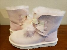 UGG Australia Gita Pom Pom Boots Seashell Pink 8