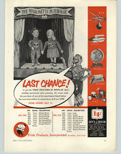 1956 PAPER AD Pride Product Toys Mickey Mouse Club Marionette Playhouse Heidi