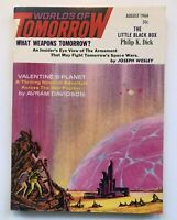 WORLDS of TOMORROW  PHILIP K. DICK  AUGUST 1964 COVER by  MORROW VINTAGE SCI FI