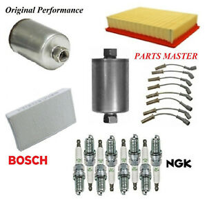 Tune Up Kit Filters Spark Plugs For CADILLAC ESCALADE EXT V8 6.0L 2002