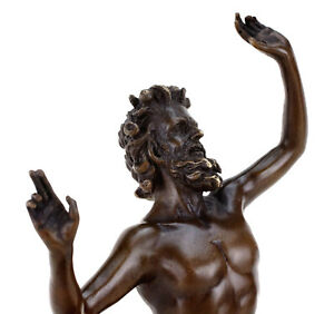 Tanzender Faun, Fauno Danzante aus Pompeji - Bronze, signiert Milo