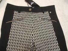Barbour International Chicara Black Streak Trousers Pants  NWT UK 8 USA 4 $315