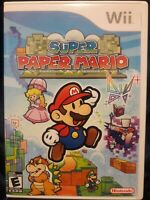 Super Paper Mario (Nintendo Wii, 2007) Complete - Nintendo Selects Free Shipping