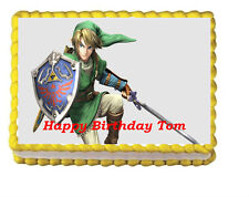 Zelda Birthday Party Edible Cake Topper 1/4 frosting icing Sheet