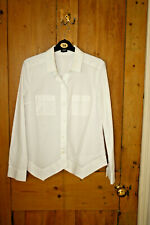 Quirky whote cotton JIL SANDER shirt blouse EU38 UK 8 10