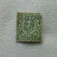 FRANCOBOLLI regno unito GIORGIO V half penny inverted printing green 1912 used