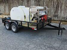 Hot Water Pressure Washer Trailer Mounted 8gpm4000psi Honda Gx690
