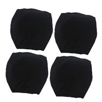 4x Stretch Spandex Dining Room Chair Slipcover Wedding Party Banquet Black