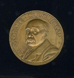 GEORGES CLEMENCEAU , GRAND MODULE, PAR BERTAULT 1918 , RARE 67mm