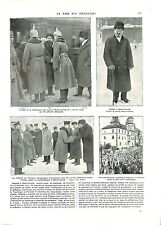 WWI October Revolution Bolshevik Trotsky Brest-Litovsk USSR 1918 ILLUSTRATION