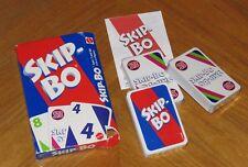 SKIP BO Card Game - Vintage 1999 Mattel - New in Open Box - Sealed Cards