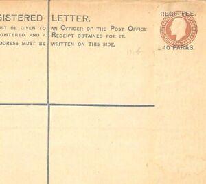 "BRITISH LEVANT KEVII Unused Registered Stationery Overprint Cover Size ""H"" GA145"