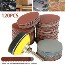 120PCS Sanding Discs Pad For Drill Grinder Rotary Tools + Backing Pad 2inch 50mm