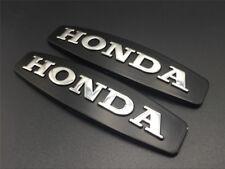 3D Fuel Tank Fairing Emblem Decal For Honda ABS Sticker Motorcycle Black Silver