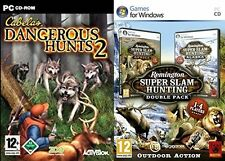 cabelas dangerous hunts 2  (USED)   &  remington super slam hunting (NEW&SEALED)