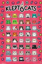 KLEPTOCATS 40 Kitten Characters on One Poster Video Game WALL POSTER
