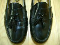 Men's Shoes COLE HAAN Tassel Loafer Sz 11.5 D Black Leather Uppers & Soles