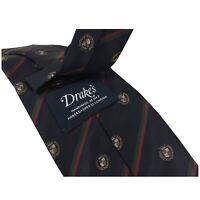 DRAKE'S LONDON cravatta uomo foderata cm 8 Regimental 100% Seta