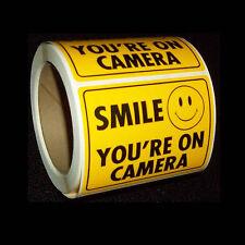 WHOLESALE LOT 100 SECURITY VIDEO SURVEILLANCE CCTV CAMERAS WARNING STICKERS