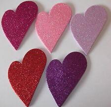 5 x mousse paillettes grande forme de cœur collant dos découpes Die Pour Carte & Scrapbooking
