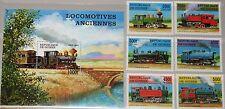 GUINEA 1997 1659-64 Block 512 1450-1456 Locomotives Lokomotiven Züge Trains MNH