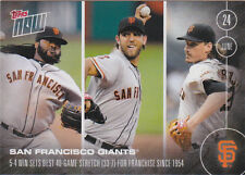 2016 Topps NOW 179 Giants 2 SIDED Johnny Cueto Buster Posey Crawford ONLY 405 SP