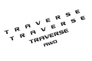 2018-2021 Chevrolet Traverse Exterior Badge Kit 85004788 Gloss Black OEM GM