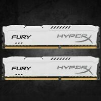 For Kingston HyperX 4GB 8GB 16GB PC3-12800 DDR3-1600MHz White Desktop Memory Lot