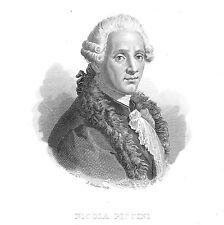 Nicola Piccini - Ritratto - Incisione originale 1837