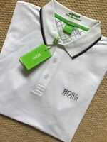 "HUGO BOSS GREEN LABEL WHITE ""GR-PEPPO PRO"" GOLF POLO SHIRT TOP - M L XL NEW TAGS"