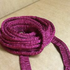 Burgundy / Cranberry Colored Crinkled Silk Lip Cord Piping - sold by the yard
