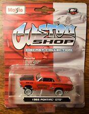 MAISTO DIECAST 1965 PONTIAC GTO MODEL RED CUSTOM SHOP EDITION 1/64 SCALE