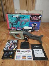 CIB Sega Genesis Menacer Gun In Box with Attachments, Receiver, Manual, T2 Game
